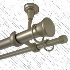 Кованый карниз, двойной (25 и 16 мм) для потолка