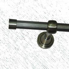 Кованый карниз с рифленой трубой, одинарный (16 мм)