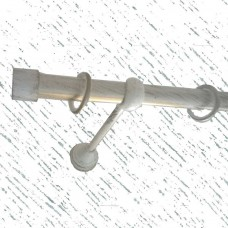 Кованый карниз для штор, одинарный (19 мм)