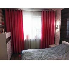 шторы на люверсах, гардина, стеганое покрывало на кровать