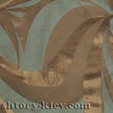 Ткань «Камуфляж» для портьер. Темно-зеленая и темно-коричневая