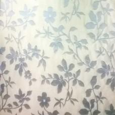 """Серо-бежевая ткань для штор """"цветы"""". Скидка"""